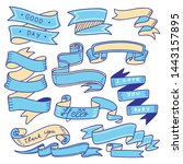 set of banner doodle isolated... | Shutterstock .eps vector #1443157895