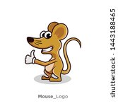 Stock photo logo design for mouse mouse character 1443188465