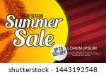summer sale template banner. ... | Shutterstock .eps vector #1443192548