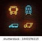 Neon Transport Signs Vector...