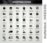 shopping icons vector | Shutterstock .eps vector #144321202