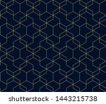 abstract dark blue background... | Shutterstock .eps vector #1443215738