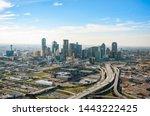 Downtown Dallas Aerial Skyline  ...
