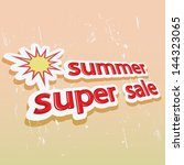 inscription summer sales on an... | Shutterstock .eps vector #144323065