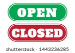 open and close sign board... | Shutterstock .eps vector #1443236285