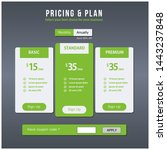 pricing plan ui design  green...
