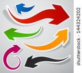 vector illustration of sticky... | Shutterstock .eps vector #144324202