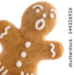 close up of gingerbread man on... | Shutterstock . vector #144326926