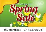 spring sale design background...   Shutterstock .eps vector #1443270905