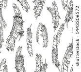 black and white lineart vector... | Shutterstock .eps vector #1443306572