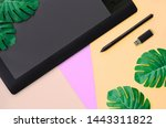 graphic tablet and pen  memory... | Shutterstock . vector #1443311822