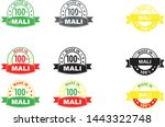 made in mali collection of... | Shutterstock .eps vector #1443322748