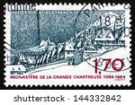 france   circa 1984  a stamp... | Shutterstock . vector #144332842