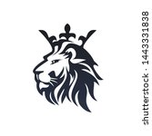 lion with a crown logo template | Shutterstock .eps vector #1443331838