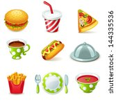 food icons | Shutterstock .eps vector #144335536