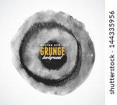 brush stroke circle texture for ... | Shutterstock .eps vector #144335956