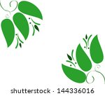 abstract green leaves nature... | Shutterstock . vector #144336016