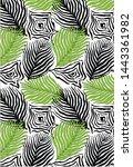 textile pattern leaf allover... | Shutterstock . vector #1443361982