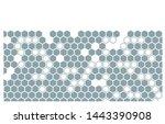 artistic honeycomb glass design ... | Shutterstock .eps vector #1443390908