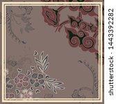 batik mega mendung java floral...   Shutterstock .eps vector #1443392282