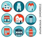 vector set with real estate ... | Shutterstock .eps vector #144340012