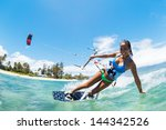 Kite Boarding  Fun In The Ocea...