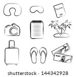 tourism icon set | Shutterstock .eps vector #144342928