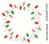 vector red and green holiday... | Shutterstock .eps vector #1443437192