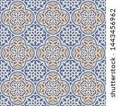 seamless classic tile pattern...   Shutterstock .eps vector #1443456962