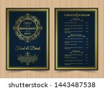 menu layout with ornamental... | Shutterstock .eps vector #1443487538