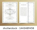 invitation card vector design   ...   Shutterstock .eps vector #1443489458