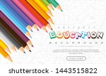 abstract education background ... | Shutterstock .eps vector #1443515822