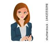 beautiful business woman... | Shutterstock .eps vector #1443555098