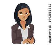 african american business woman ... | Shutterstock .eps vector #1443558962