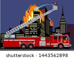 Illustration Of A Firefighter...
