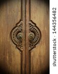 Asian Style Wooden Door With...
