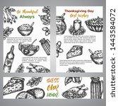 thanksgiving day broshure... | Shutterstock .eps vector #1443584072