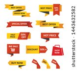 set of sale tags and labels ... | Shutterstock .eps vector #1443632582