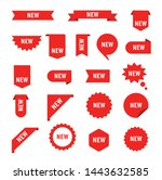 set of sale tags and labels ... | Shutterstock .eps vector #1443632585
