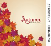 autumn background layout... | Shutterstock .eps vector #1443650672