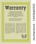 yellow vintage warranty...   Shutterstock .eps vector #1443660332