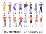 people expressing different...   Shutterstock .eps vector #1443669788