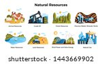 natural resources set with land ... | Shutterstock .eps vector #1443669902