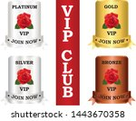 vip membership club plates that ... | Shutterstock .eps vector #1443670358
