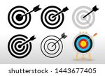 set of targets icon. flat... | Shutterstock .eps vector #1443677405