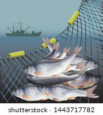 Industrial Fishery Poster With...