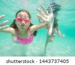 Happy Child Underwater Portrait ...