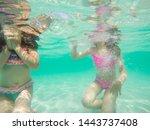 Funny Children Underwater...