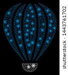 bright mesh aerostat with glare ... | Shutterstock .eps vector #1443761702