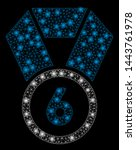 bright mesh 6th place medal... | Shutterstock .eps vector #1443761978